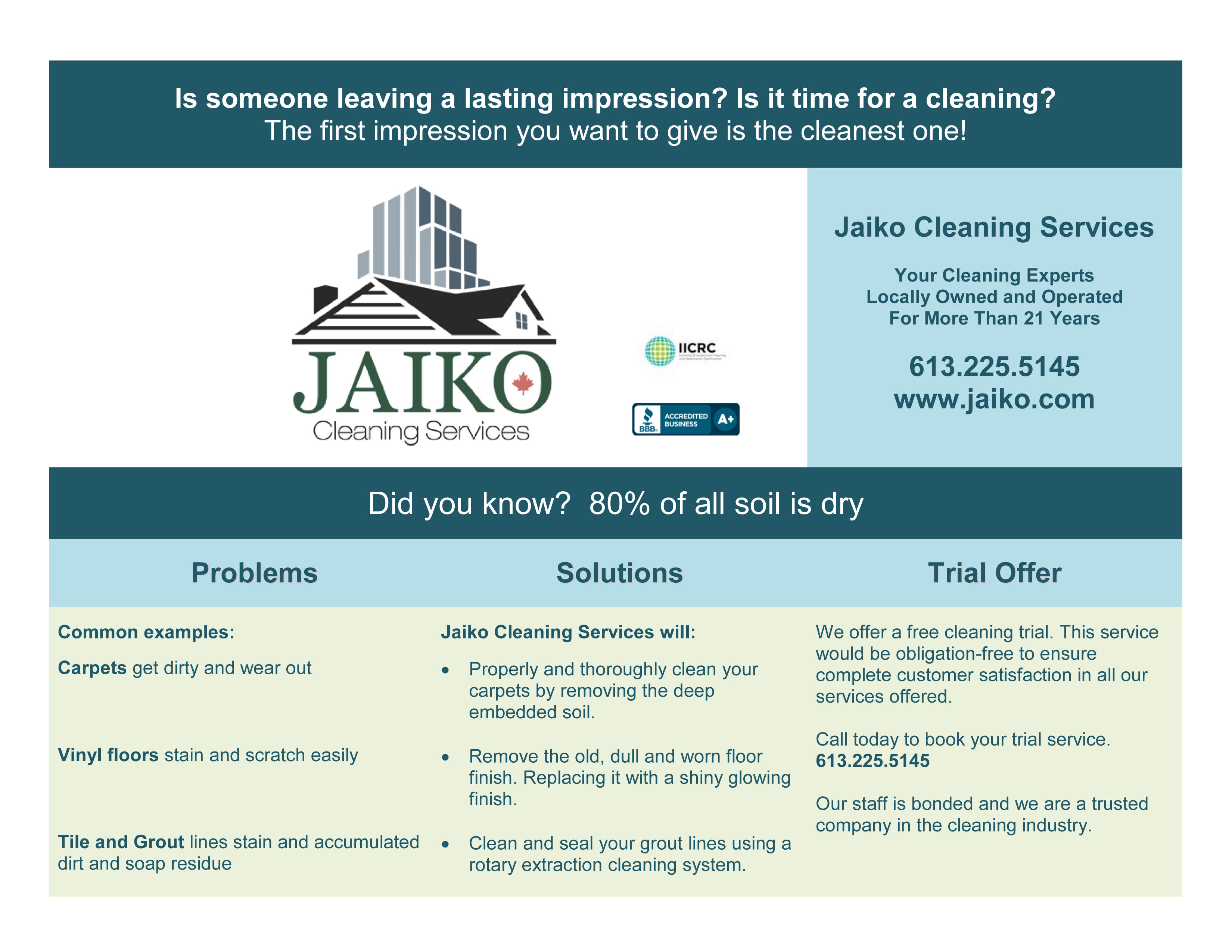 Free cleaning trial