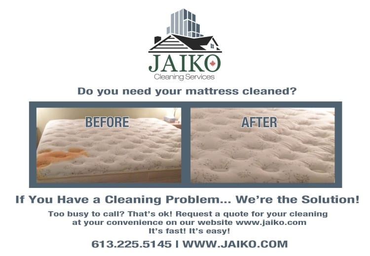 Mattress cleaning and sanitization service
