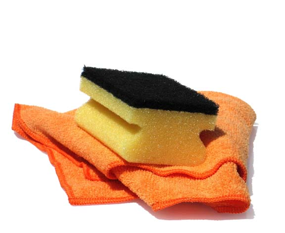 clean sponge cloth