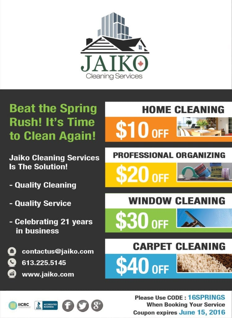 Jaiko Cleaning Services spring coupon